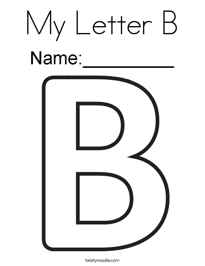 Letter b color pages dolapgnetband my letter b coloring page twisty noodle spiritdancerdesigns