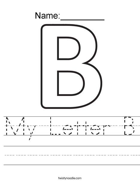 my letter b worksheet twisty noodle. Black Bedroom Furniture Sets. Home Design Ideas