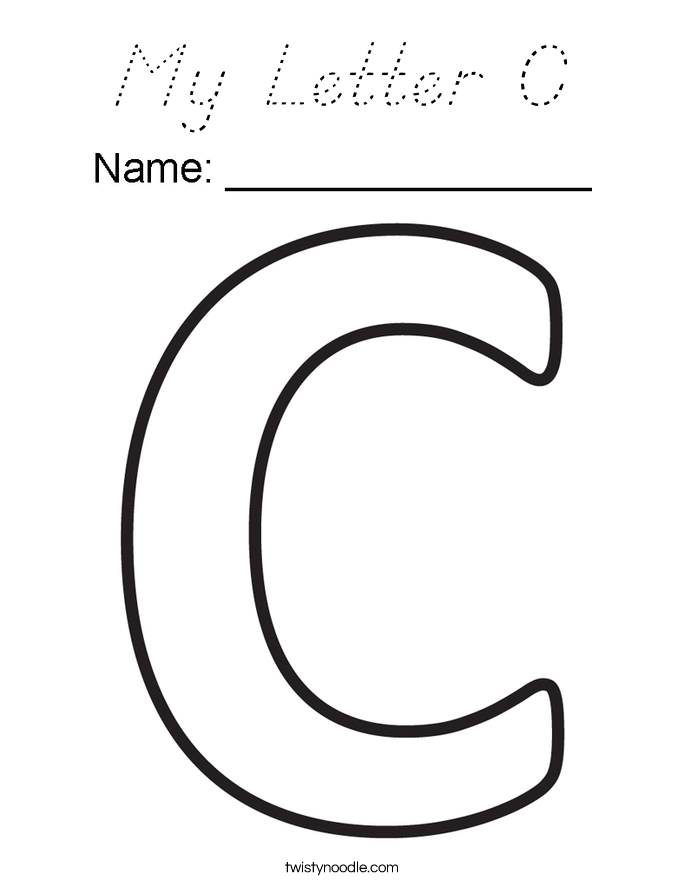 My Letter C Coloring Page