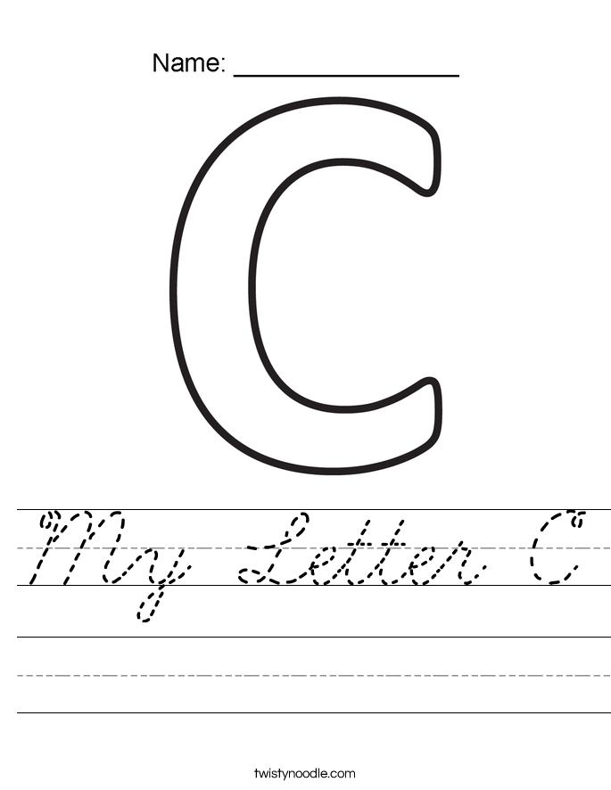 My Letter C Worksheet