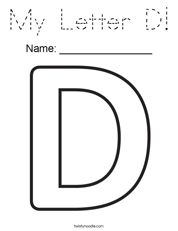 my letter d coloring page - tracing