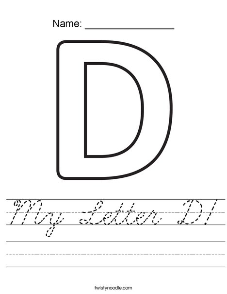 My Letter D Worksheet