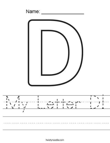 My Letter D Worksheet