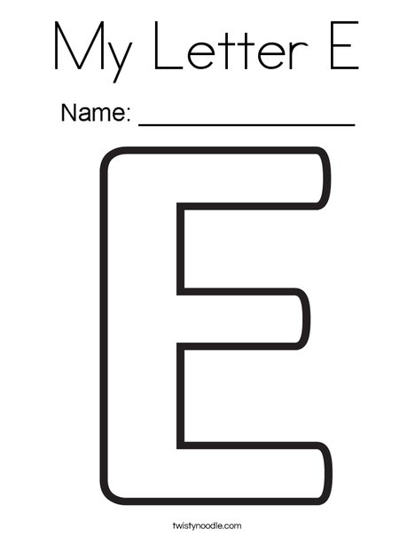 My Letter E Coloring Page