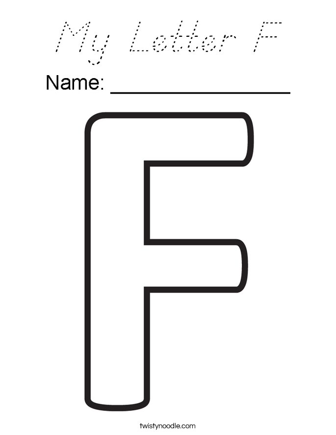 My Letter F Coloring Page