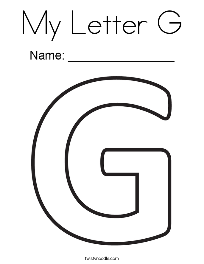 My Letter G Coloring Page - Twisty Noodle