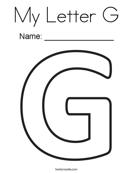My Letter G Coloring Page