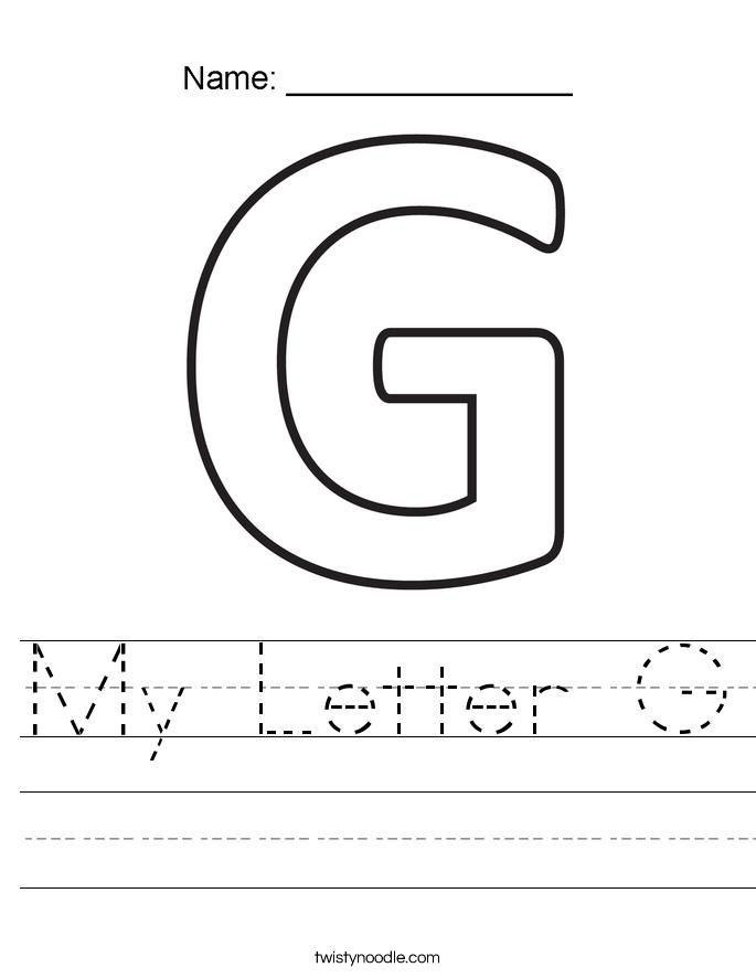 My Letter G Worksheet - Twisty Noodle