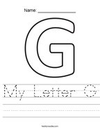 My Letter G Handwriting Sheet