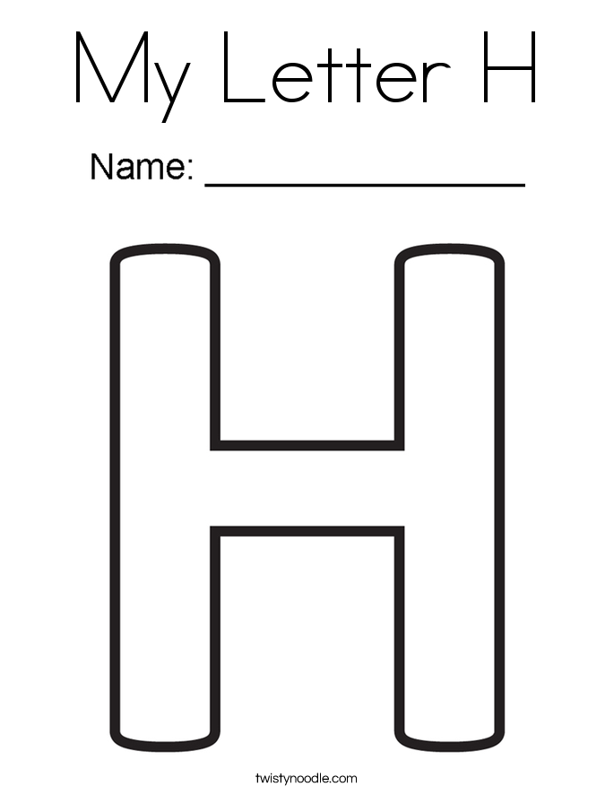 My Letter H Coloring Page
