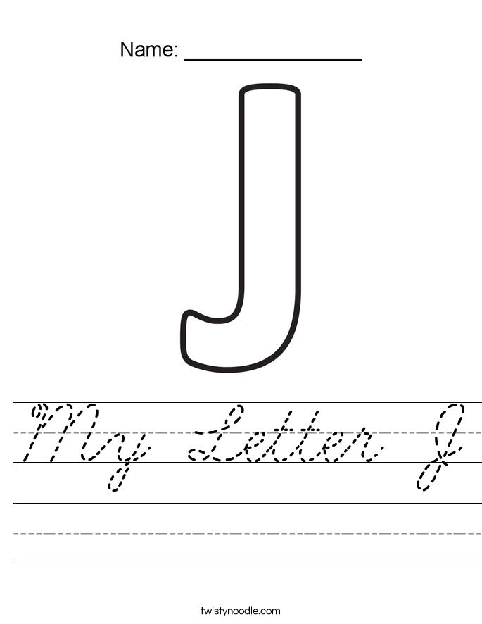 My Letter J Worksheet