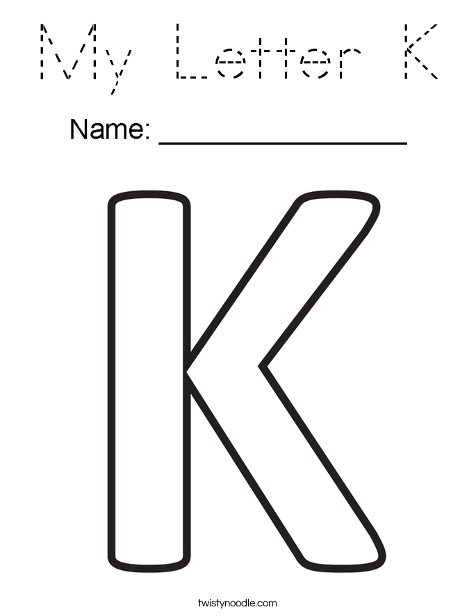 My Letter K Coloring Page