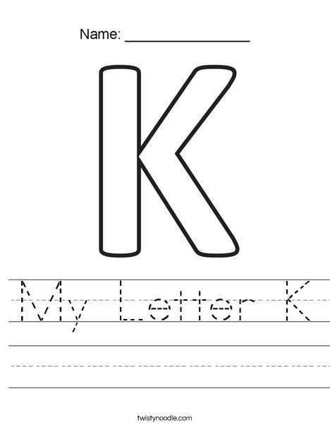 My Letter K Worksheet