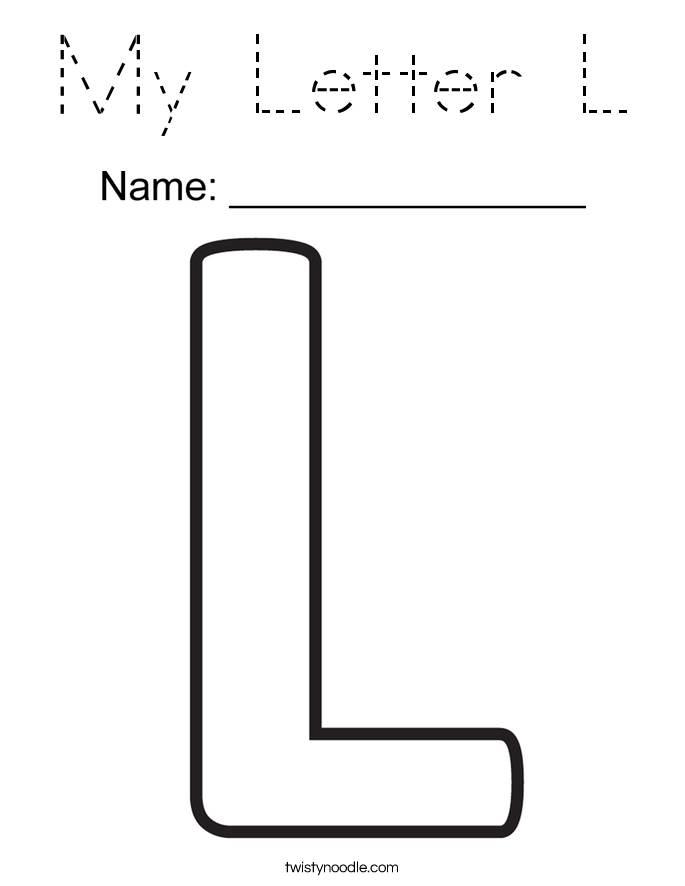 My Letter L Coloring Page
