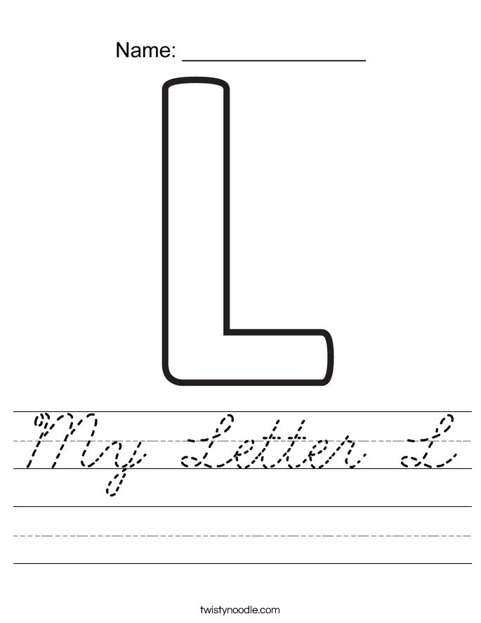 My Letter L Worksheet