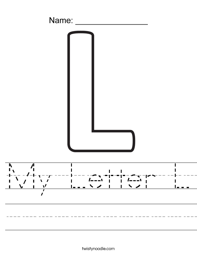 My Letter L Worksheet