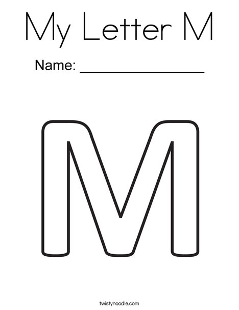 My Letter M Coloring Page