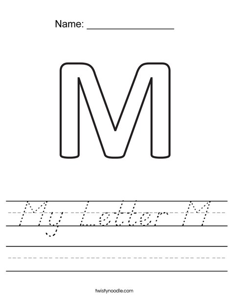 My Letter M Worksheet