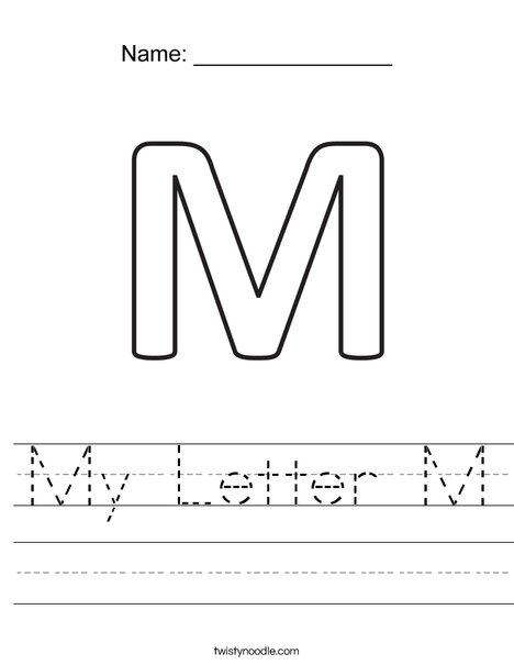 My Letter M Worksheet