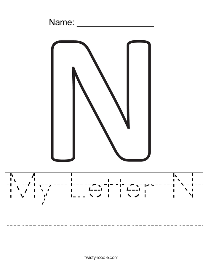 My Letter N Worksheet