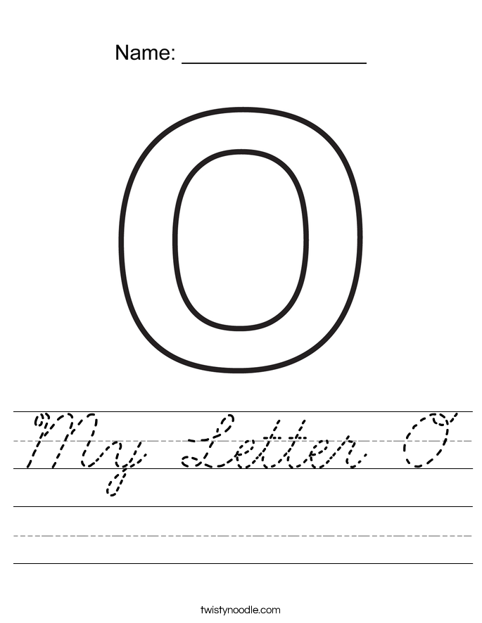 My Letter O Worksheet