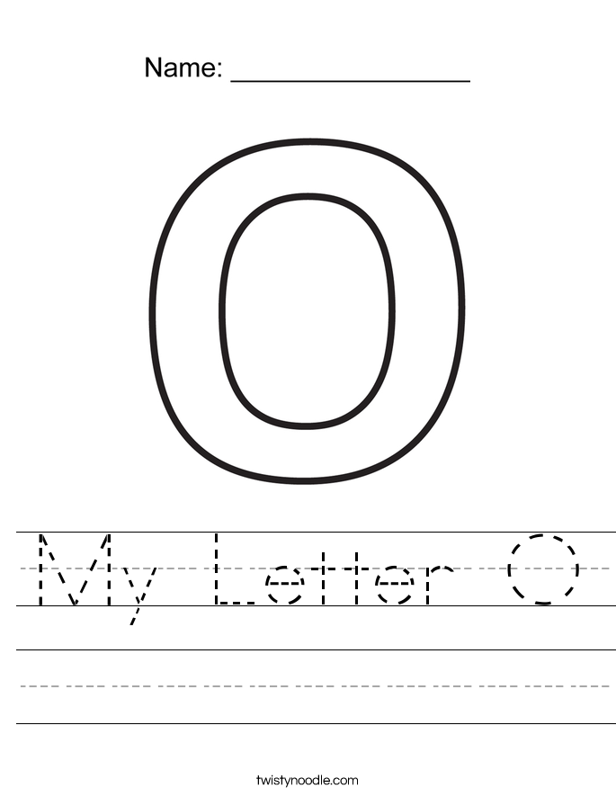 My Letter O Worksheet Twisty Noodle – Letter O Worksheet