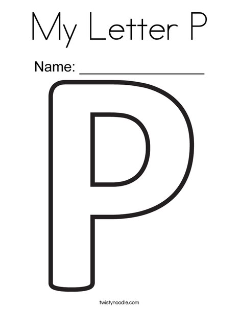 My Letter P Coloring Page