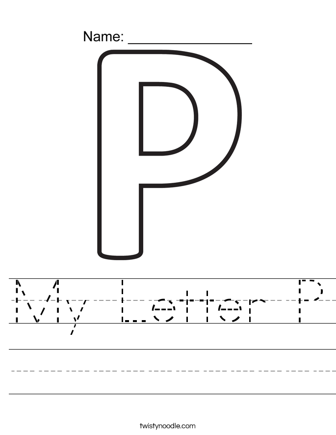 My Letter P Worksheet