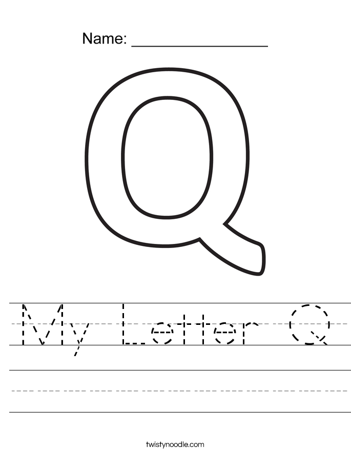 My Letter Q Worksheet