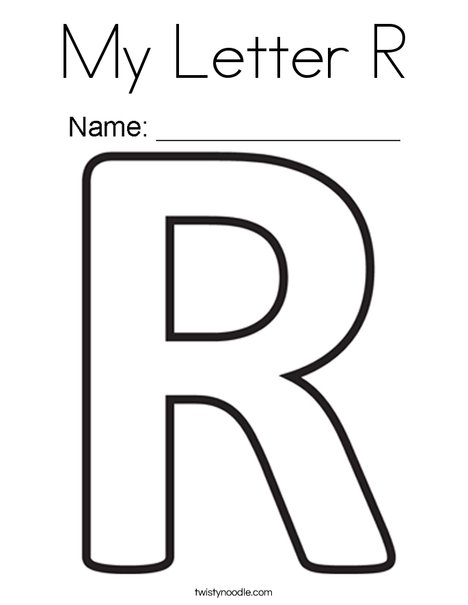 letter r coloring pages My Letter R Coloring Page   Twisty Noodle letter r coloring pages