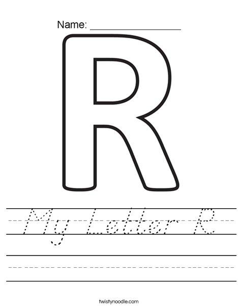 My Letter R Worksheet