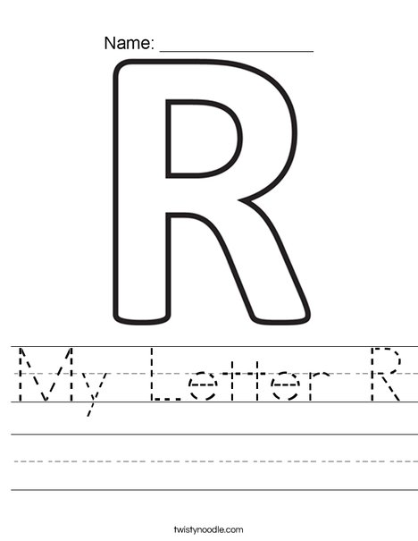 My Letter R Worksheet
