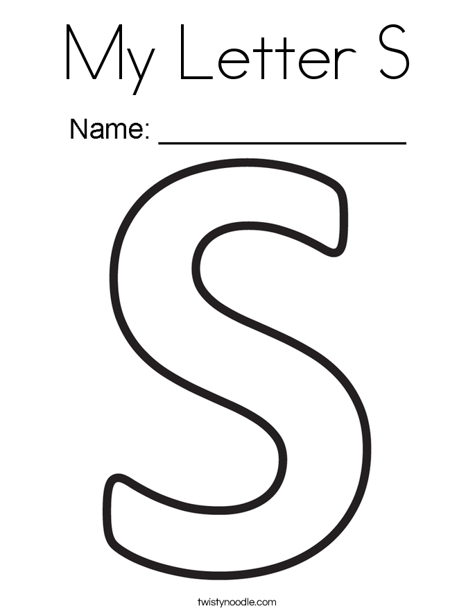 Letter S Coloring Pages Twisty Noodle