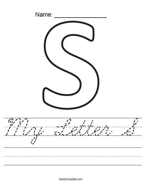 My Letter S Worksheet