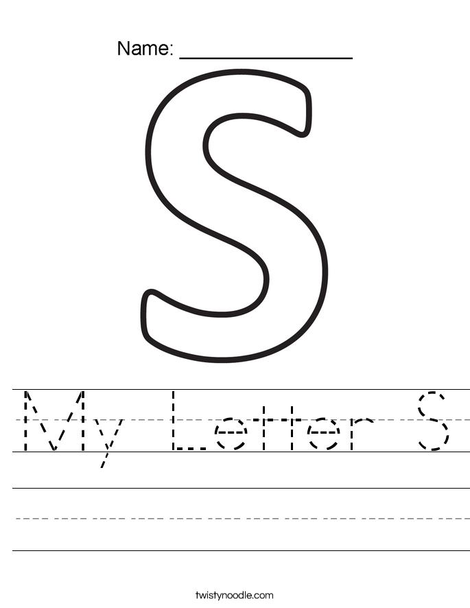 My Letter S Worksheet