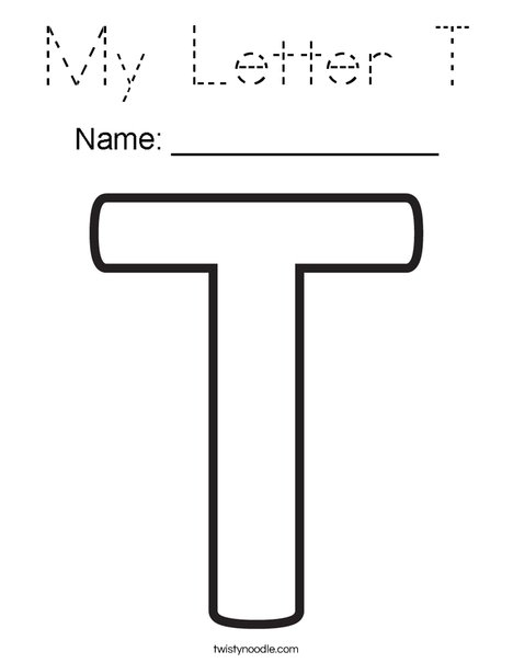 My Letter T Coloring Page