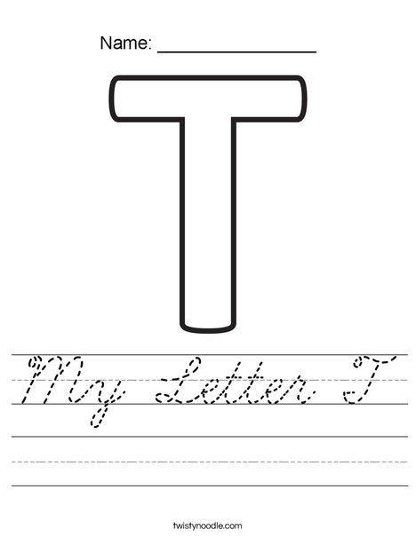 My Letter T Worksheet