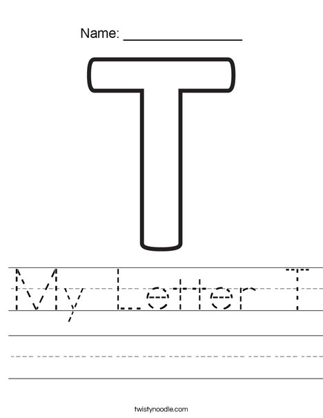My Letter T Worksheet