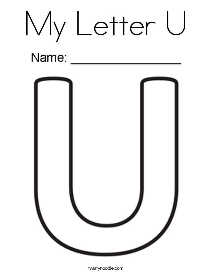 Lovely U & Us Home Design Studio Part - 3: My Letter U Coloring Page