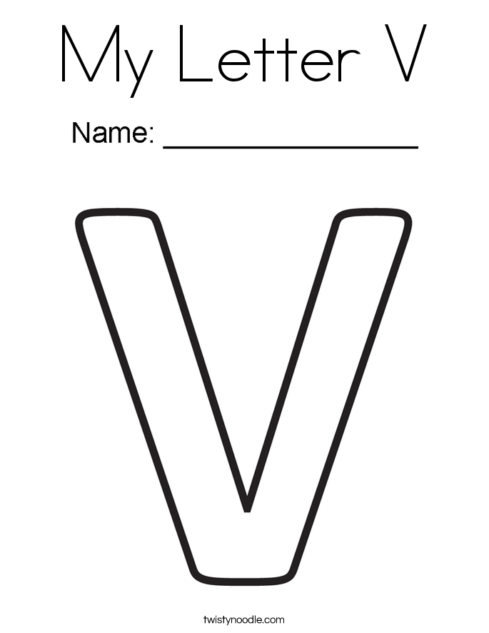 v letter coloring pages - photo #12