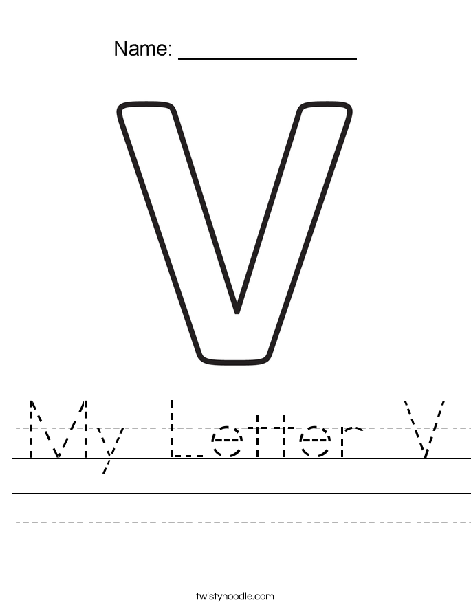 My Letter V Worksheet
