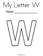My Letter W Coloring Page