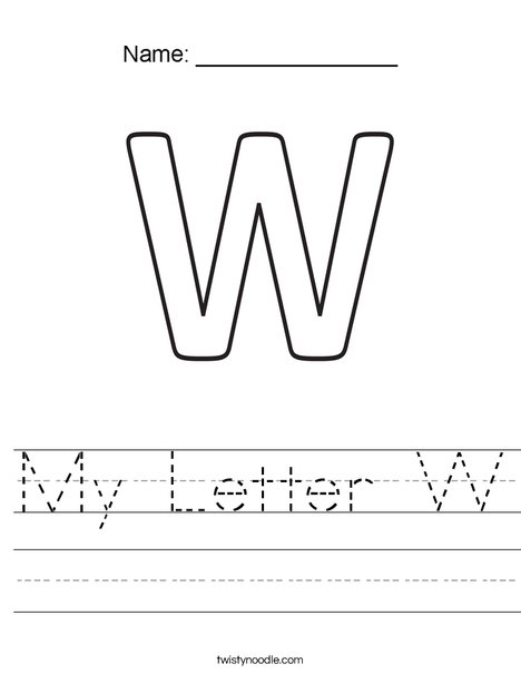 My Letter W Worksheet