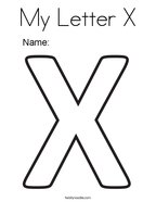 My Letter X Coloring Page