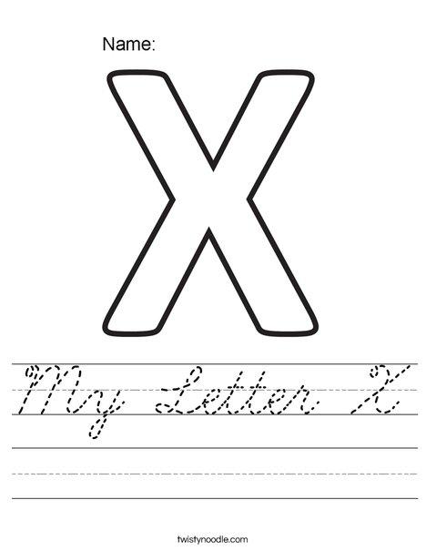 My Letter X Worksheet
