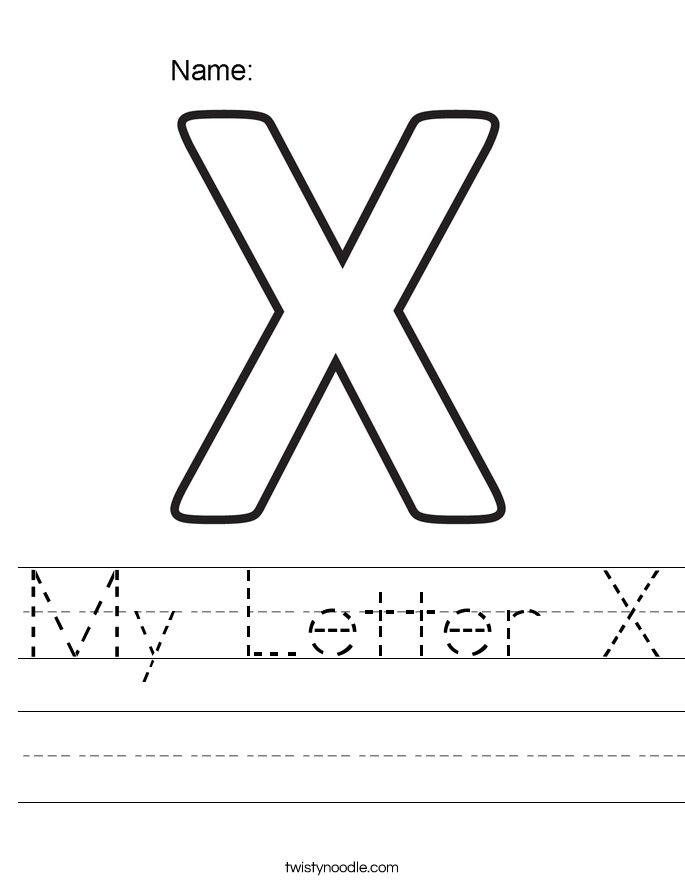 My Letter X Worksheet