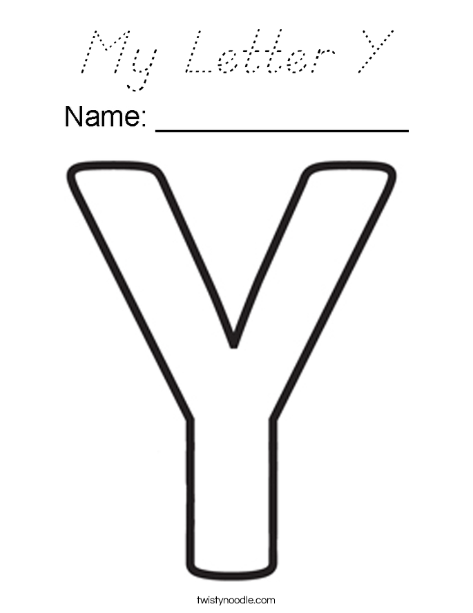 My Letter Y Coloring Page