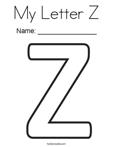 my letter z coloring page