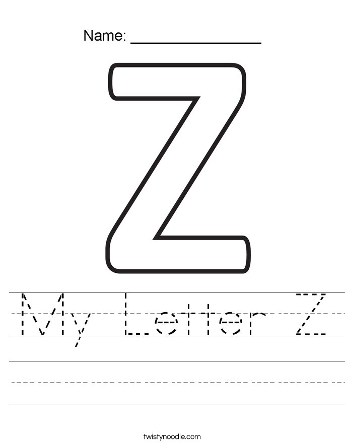 My Letter Z Worksheet