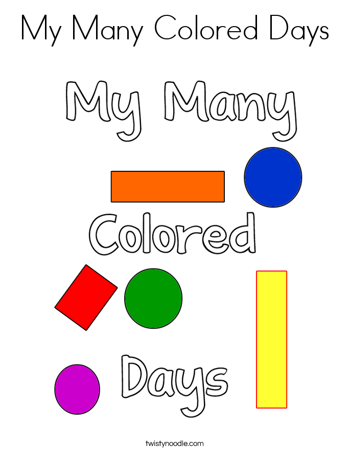 My Many Colored Days Coloring Page